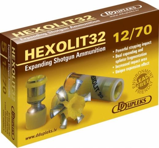 Патрон DDupleks c пулей Hexolit (12/70 32 гр.)