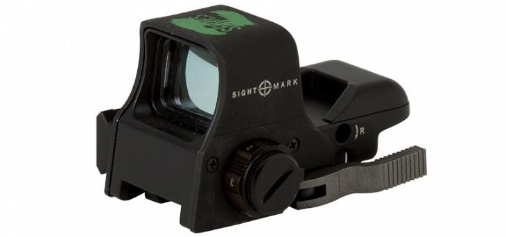 Коллиматор Sightmark зел. марка 5 ур. ярбыстросъем. Weaver SM13005Z