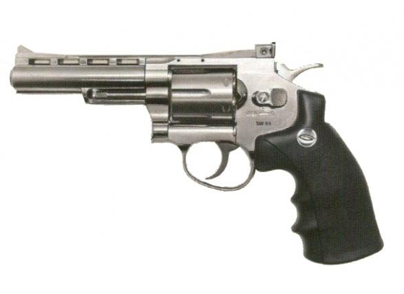Револьвер Gletcher SW R4 Silver