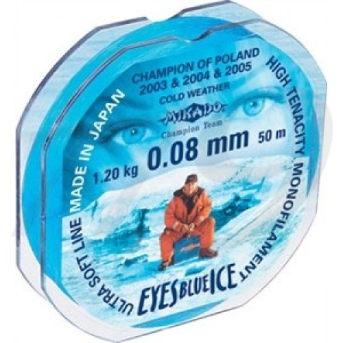 Леска Mikado Eyes Blue Ice 25 и 50 м