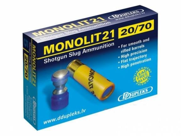 Патрон DDupleks c пулей Monolit 20/70 21гр.