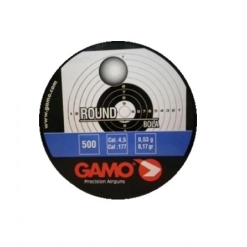 Пули пневматические GAMO Round, кал. 4,5 мм 0,53 грамма (500 шт.)