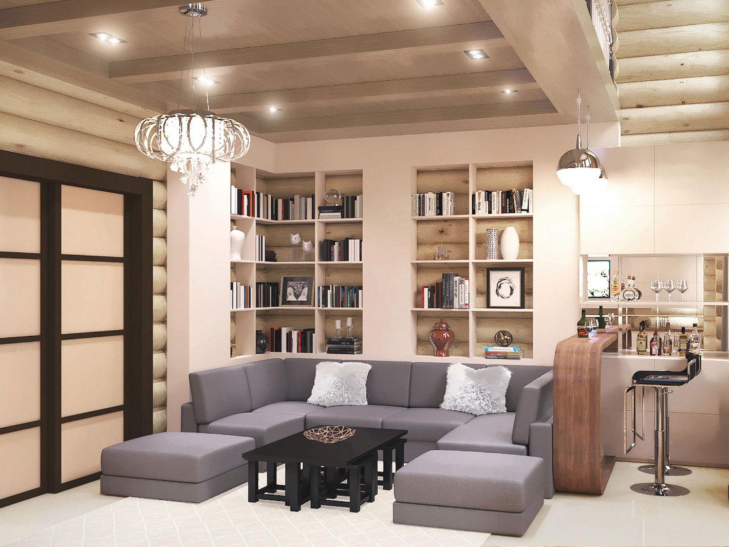 Дизайн интерьера спальни квартиры в высотном доме в современном стиле