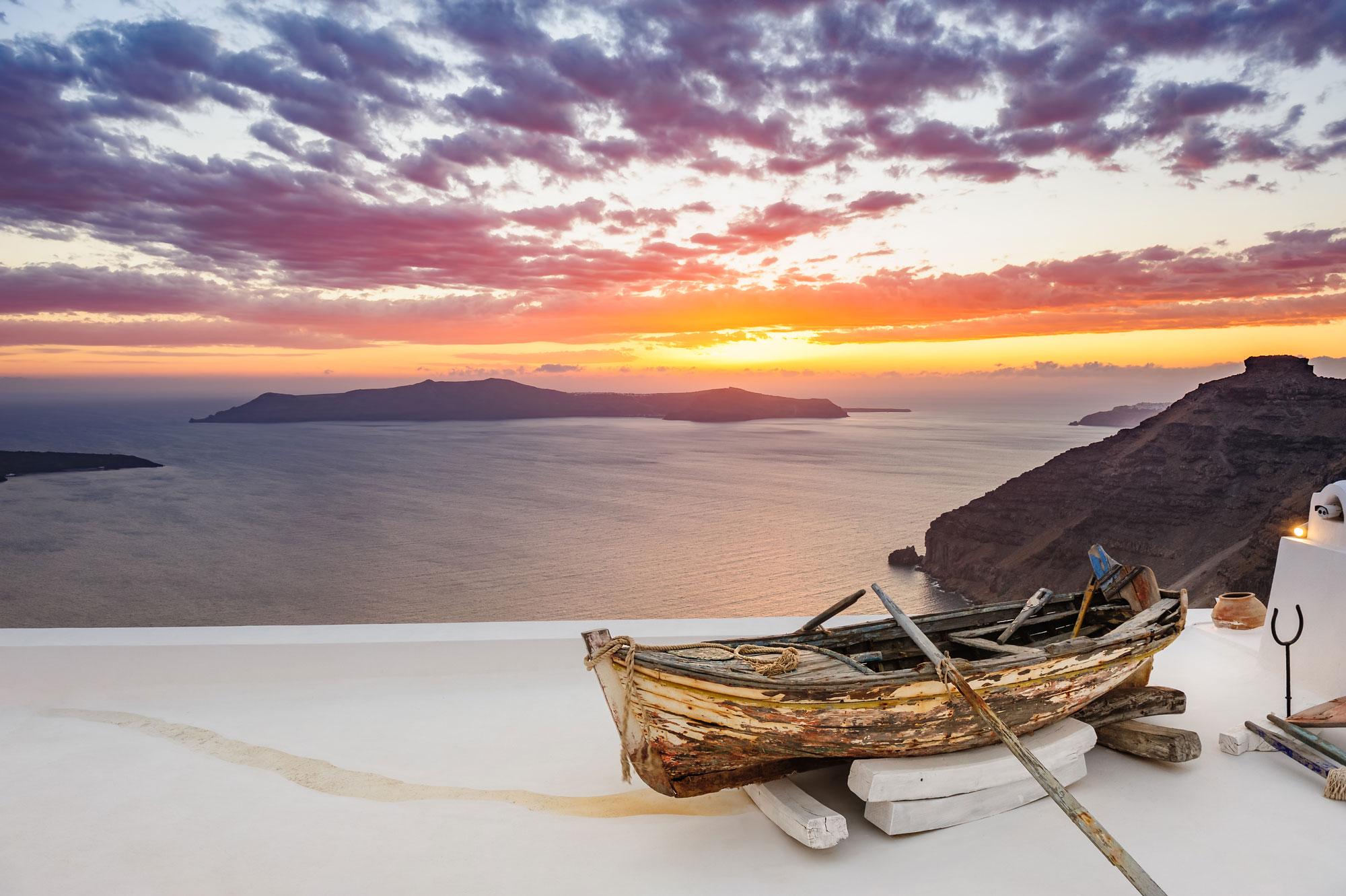 Ландшафт с имитацией рыбацкой деревушки с видом на море