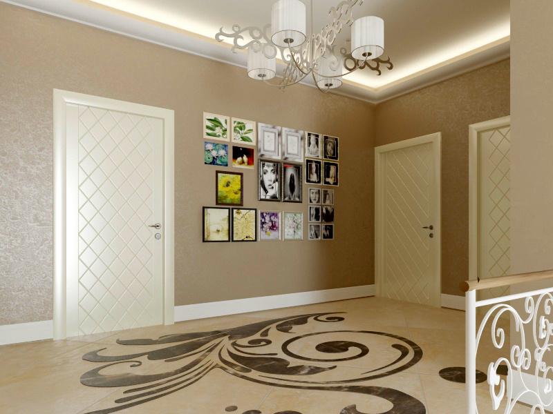 Дизайн интерьера коридора 1-го этажа загородного дома