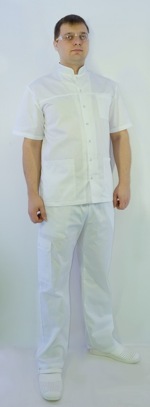 Медицинский Костюм Ординатор (белый сзеленым)