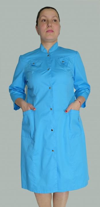 Медицинский халат женский арт. Валентина (голубой)