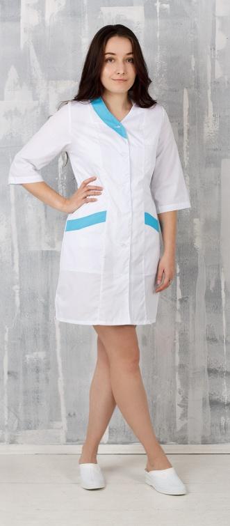 Медицинский халат женский арт. Волна