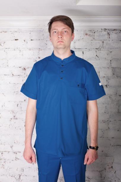 Мужская медицинская блуза арт. 7140 (синий)
