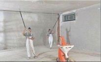 Механизированная шпатлевка стен и потолков