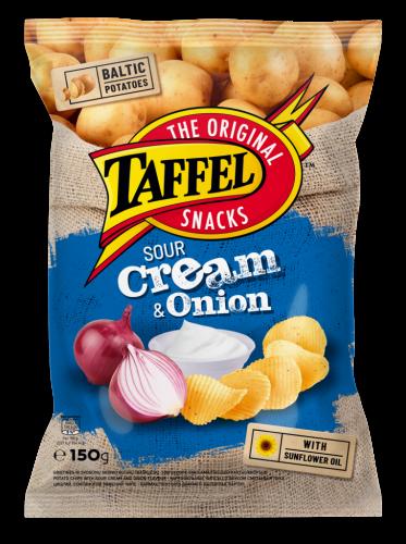 Картофельные чипсы Taffel совкусом сметаны илука 150г