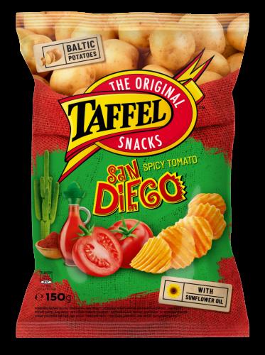 Картофельные чипсы Taffel «San Diego» совкусом томатов150г
