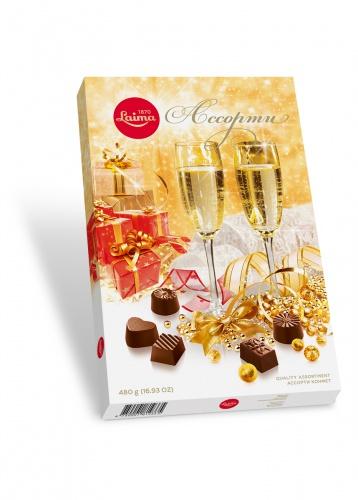 Ассорти конфет 480г «Бокалы шампанского»