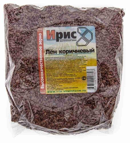 Лен коричневый (семена) 250г ТМ«Ирис»