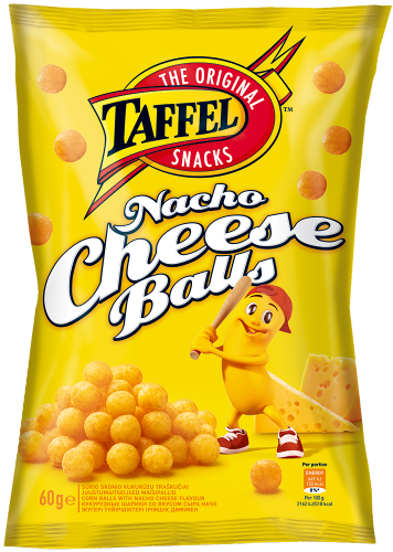 Шарики кукурузные Taffel совкусом сыра «Начо» 60г