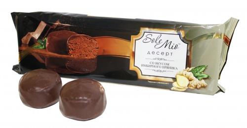 Пирожные глазированные «Десерт Sole Mio» совкусом имбирного пряника 200 г