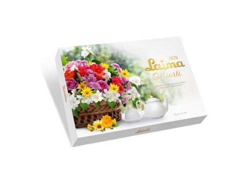 Ассорти шоколадных конфет «Корзина цветов» 190г