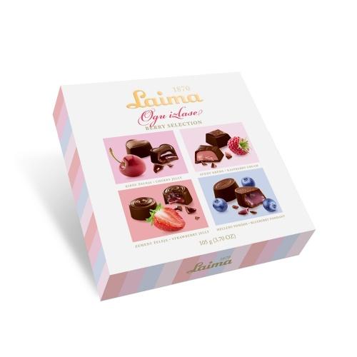 Конфеты шоколадные «Ягодное ассорти» 105г