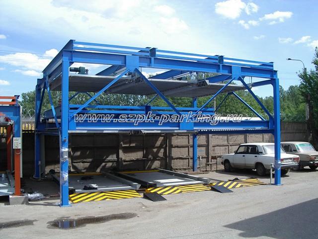 Трехуровневый паркинг модульного типа