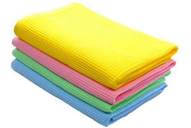 Полотенце вафельное (цветное)