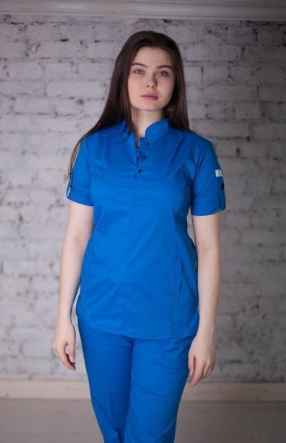Женская медицинская блуза арт. 5130 (василек)