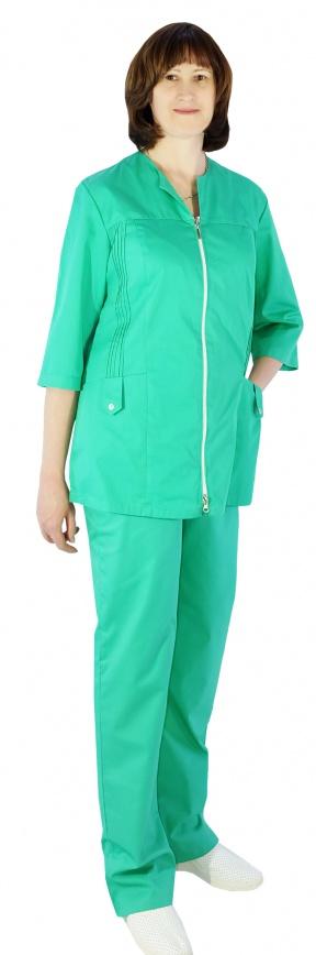 Медицинский костюм женский арт.Изумруд