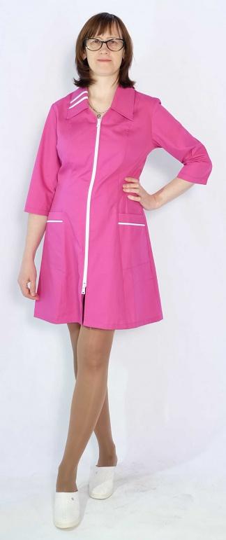 Медицинский халат женский цветной