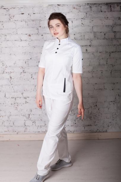 Женская медицинская блуза арт. 5130 (белый)