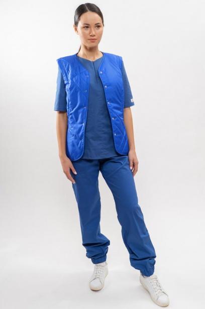 Жилет утепленный для медицинскихработников (женский) синий