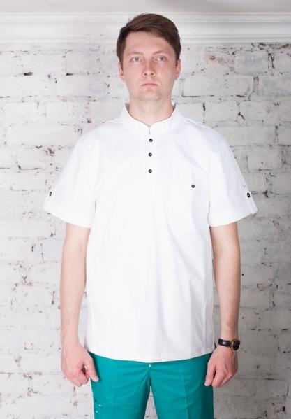 Мужская медицинская блуза арт. 7140 (белый)