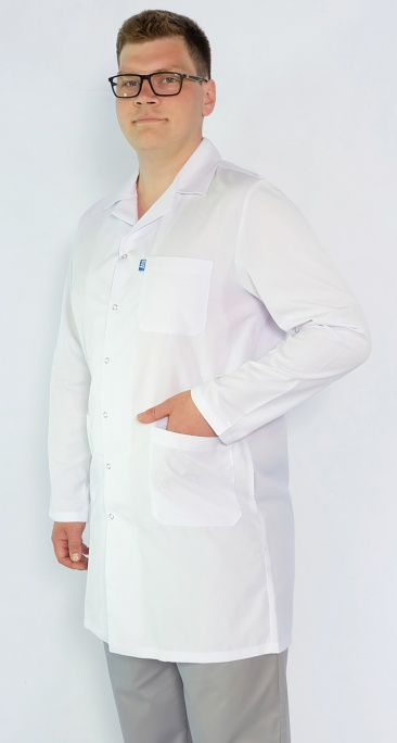 Мужской медицинский халат Арт. М2 (ткань: багар)