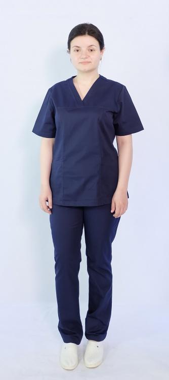 Костюм женский хирургический Арс-Файн (т.синий)