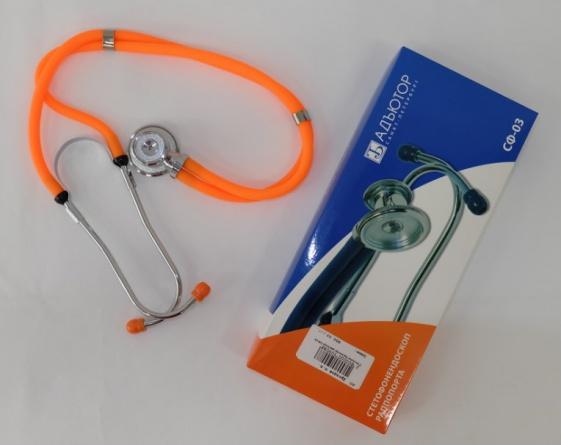 Стетоскоп Адъютор, арт. СФ-03 (оранжевый)