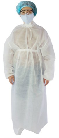 Одноразовый защитныйхалат белый (25 гр)