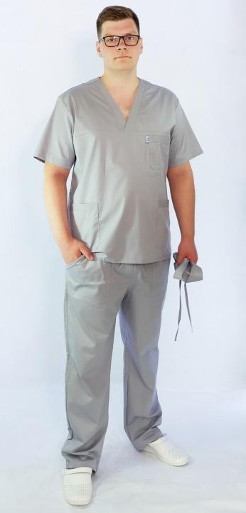 Костюм мужскойхирургический Арс-Файн (серый)