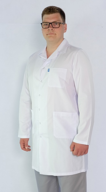 Мужской медицинский халат Арт. М2 (ткань: кул-котон)