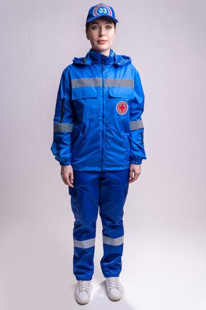 Куртка ветровка для работников Скорой Помощи