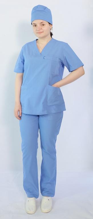 Костюм женский хирургический Арс-Файн (голубой)